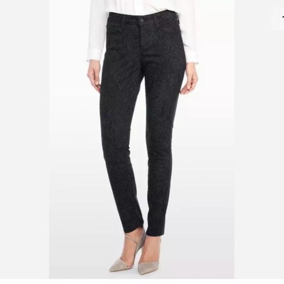 NYDJ Alina Black Petite Broken Scale Leggings Not Your Daughters Jeans Pants